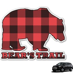 Lumberjack Plaid Graphic Car Decal (Personalized)