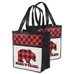Lumberjack Plaid Grocery Bag (Personalized)