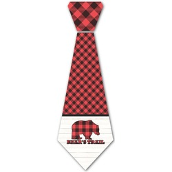 Lumberjack Plaid Iron On Tie (Personalized)