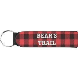 Lumberjack Plaid Neoprene Keychain Fob (Personalized)