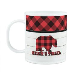 Lumberjack Plaid Plastic Kids Mug (Personalized)