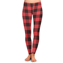 Lumberjack Plaid Ladies Leggings - Large (Personalized)