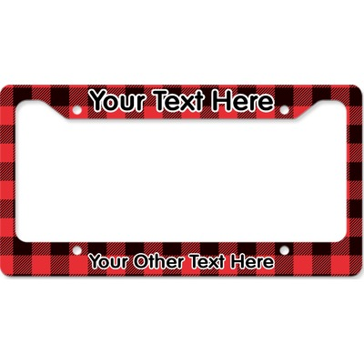 Lumberjack Plaid License Plate Frame (Personalized)