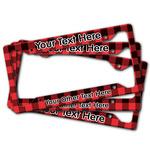 Lumberjack Plaid License Plate Frame (Personalized)