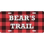 Lumberjack Plaid Front License Plate (Personalized)