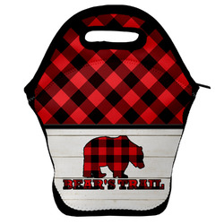 Lumberjack Plaid Lunch Bag w/ Name or Text