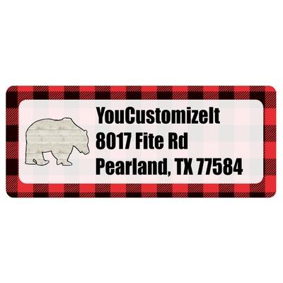 Lumberjack Plaid Return Address Labels (Personalized)