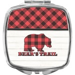 Lumberjack Plaid Compact Makeup Mirror (Personalized)