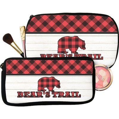 Lumberjack Plaid Makeup / Cosmetic Bag (Personalized)
