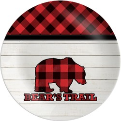 Lumberjack Plaid Melamine Plate (Personalized)