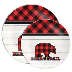 Lumberjack Plaid Melamine Plate (Personalized)