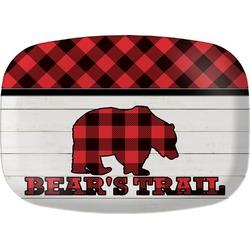 Lumberjack Plaid Melamine Platter (Personalized)