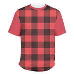 Lumberjack Plaid Men's Crew T-Shirt (Personalized)