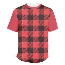 Lumberjack Plaid Men's Crew T-Shirt (Personalized)