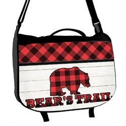 Lumberjack Plaid Messenger Bag (Personalized)