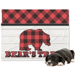 Lumberjack Plaid Minky Dog Blanket (Personalized)