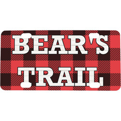 Lumberjack Plaid Mini / Bicycle License Plate (Personalized)