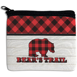 Lumberjack Plaid Rectangular Coin Purse (Personalized)