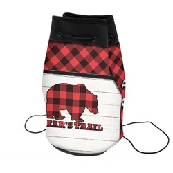Lumberjack Plaid Neoprene Drawstring Backpack (Personalized)