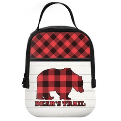 Lumberjack Plaid Neoprene Lunch Tote (Personalized)