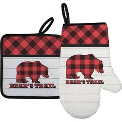 Lumberjack Plaid Oven Mitt & Pot Holder (Personalized)