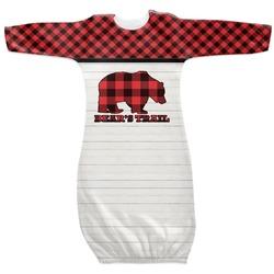 Lumberjack Plaid Newborn Gown (Personalized)