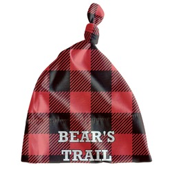 Lumberjack Plaid Newborn Hat - Knotted (Personalized)