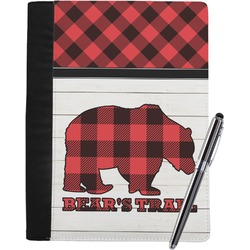 Lumberjack Plaid Notebook Padfolio (Personalized)