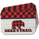 Lumberjack Plaid Dining Table Mat - Octagon w/ Name or Text