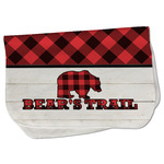 Lumberjack Plaid Burp Cloth - Fleece w/ Name or Text