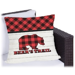 """Lumberjack Plaid Outdoor Pillow - 18"""" (Personalized)"""