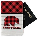Lumberjack Plaid Passport Holder - Fabric (Personalized)