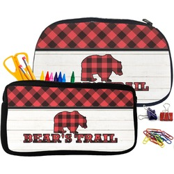 Lumberjack Plaid Pencil / School Supplies Bag (Personalized)