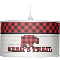 Lumberjack Plaid Drum Pendant Lamp (Personalized)