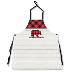 Lumberjack Plaid Apron Without Pockets w/ Name or Text