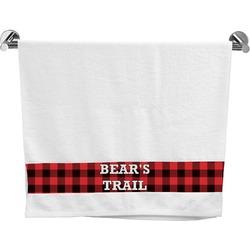 Lumberjack Plaid Bath Towel (Personalized)