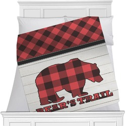Lumberjack Plaid Minky Blanket (Personalized)