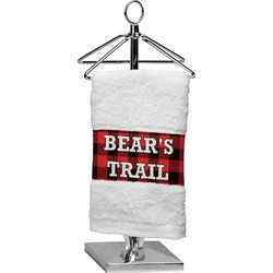 Lumberjack Plaid Finger Tip Towel (Personalized)