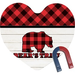 Lumberjack Plaid Heart Fridge Magnet (Personalized)