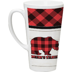Lumberjack Plaid Latte Mug (Personalized)