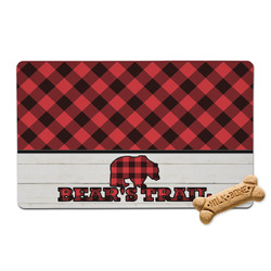 Lumberjack Plaid Pet Bowl Mat (Personalized)
