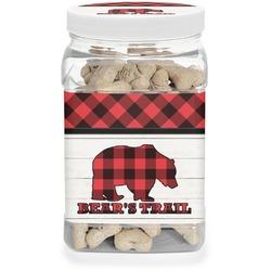 Lumberjack Plaid Dog Treat Jar (Personalized)
