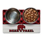 Lumberjack Plaid Dog Food Mat (Personalized)