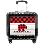 Lumberjack Plaid Pilot / Flight Suitcase (Personalized)