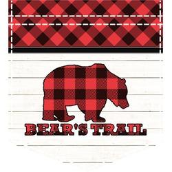 Lumberjack Plaid Iron On Faux Pocket (Personalized)