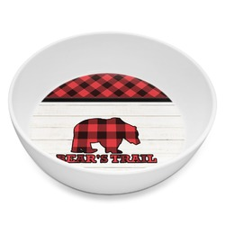 Lumberjack Plaid Melamine Bowl 8oz (Personalized)