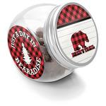 Lumberjack Plaid Puppy Treat Jar (Personalized)