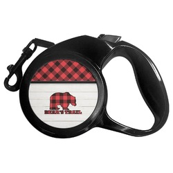 Lumberjack Plaid Retractable Dog Leash (Personalized)