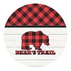 Lumberjack Plaid Round Decal (Personalized)
