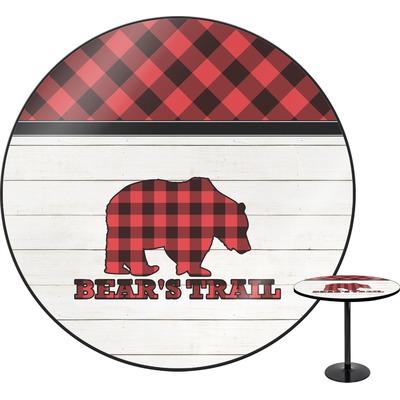 Lumberjack Plaid Round Table (Personalized)